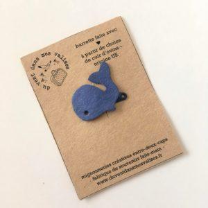 broche baleine bleue