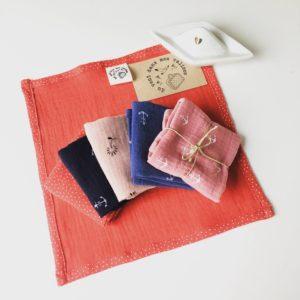 mouchoir en coton lavable