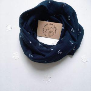 snood bleu ancre