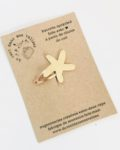 du vent dans mes valises - l'étoile de mer barrette en cuir made in France