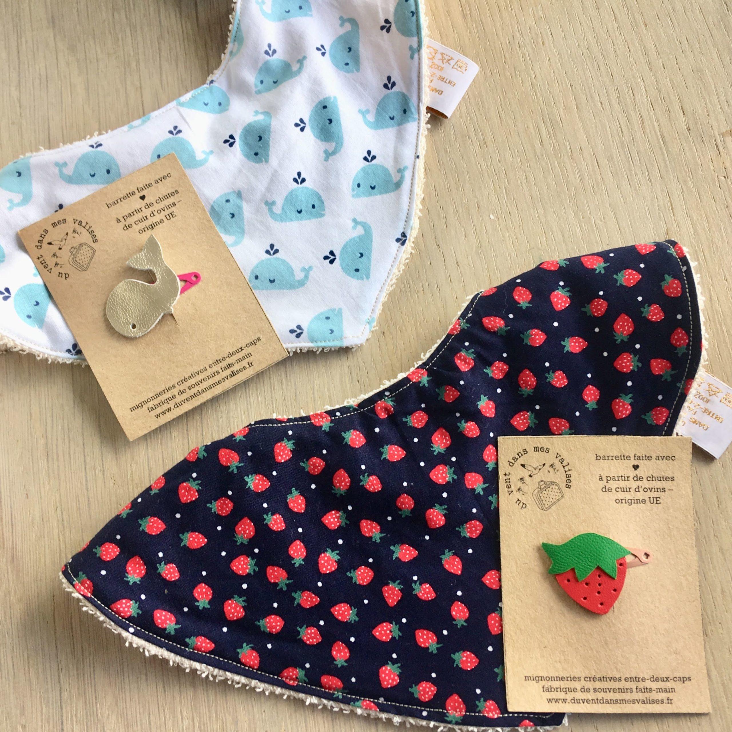 Cape de bain ... de mer ou d'eau douce pour bébé chou - à oreilles, en éponge naturelle et coton motifs fraises