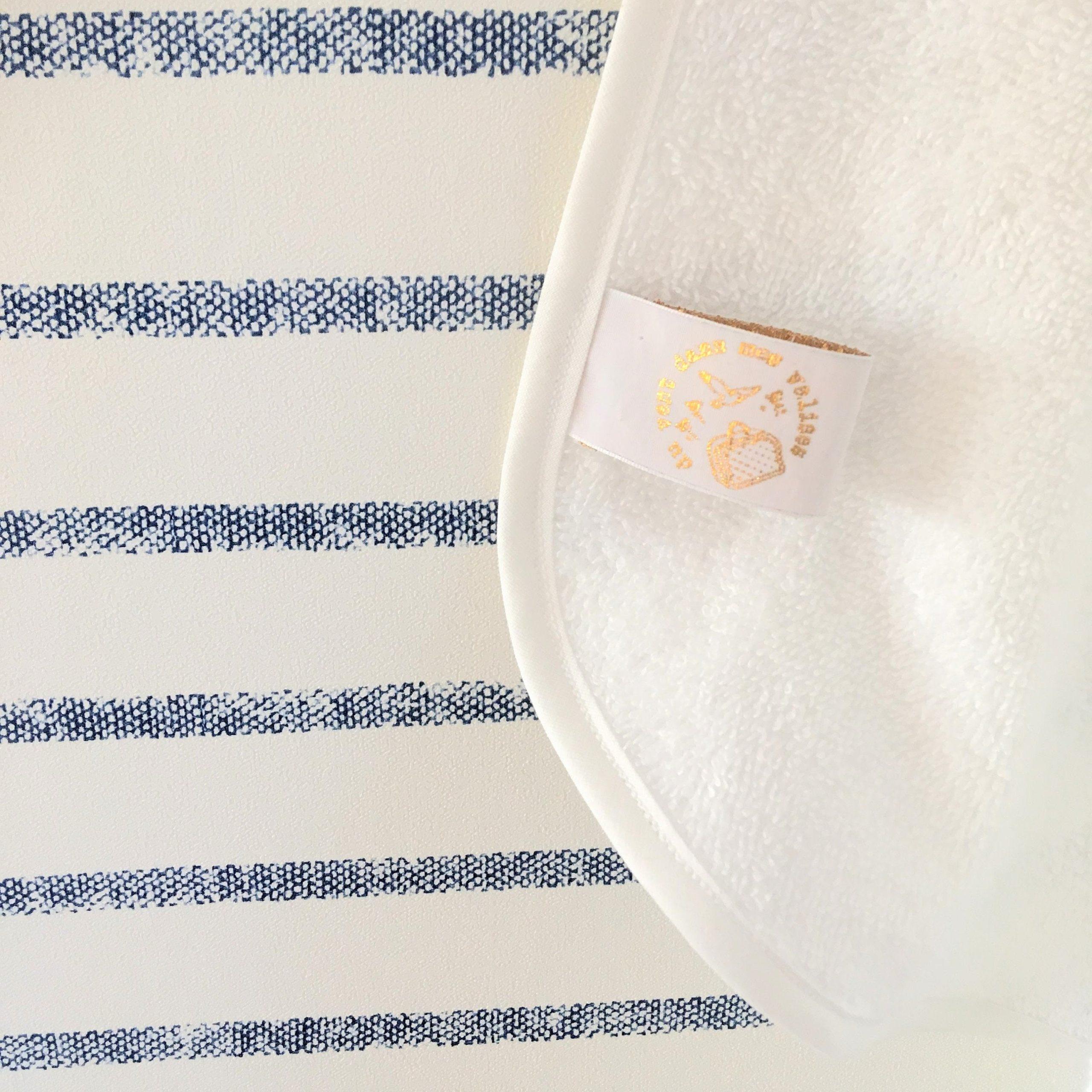 du vent dans mes valises - cape de bain bébé oreilles lapin capuche marguerites made in France