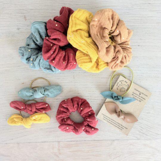 accessoires cheveux made in France en double gaze de coton - du vent dans mes valises