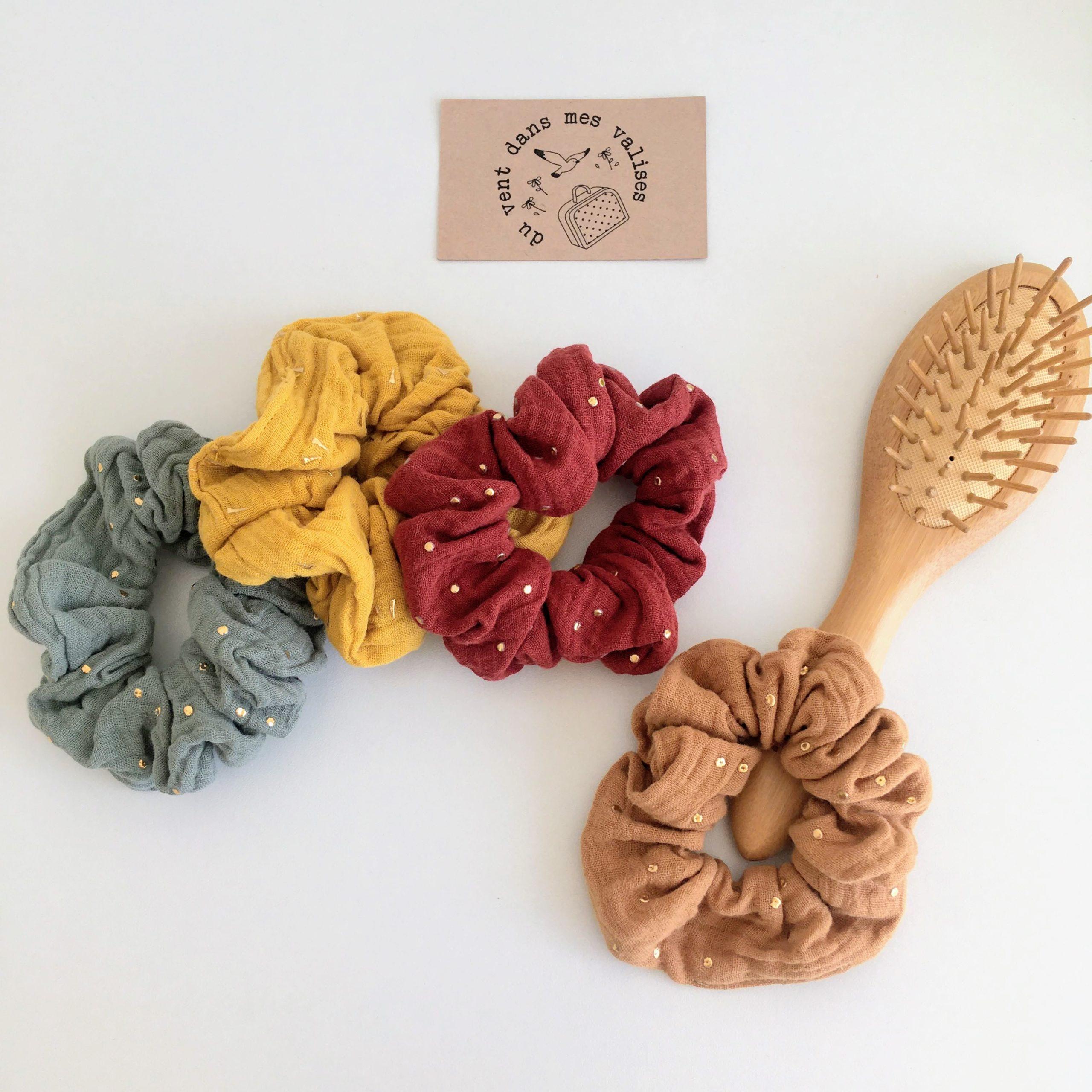 chouchou naturel made in France en double gaze de coton - du vent dans mes valises