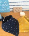 du vent dans mes valises - bavoir bandana made in France