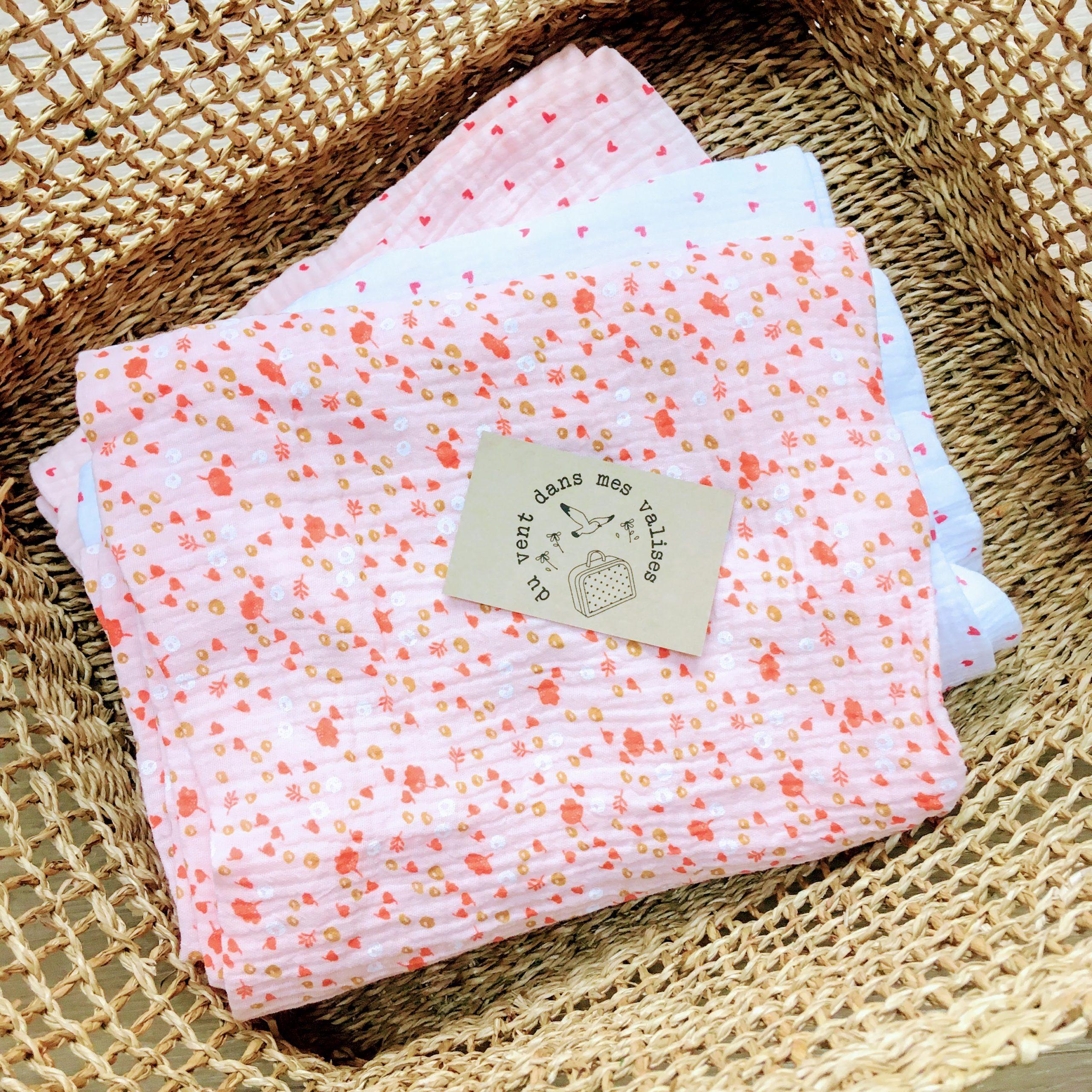 du vent dans mes valises - snood si doux milles fleurs rose made in France