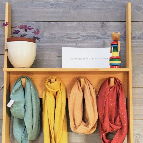 écharpe femme automne double gaze de coton oekotex femme made in France écharpe coton artisanale - du vent dans mes valises