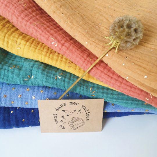 étole double gaze de coton oekotex femme made in France écharpe coton artisanale - du vent dans mes valises