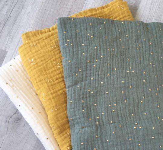 snood femme vert sauge double gaze de coton oekotex femme made in France écharpe coton artisanale - du vent dans mes valises