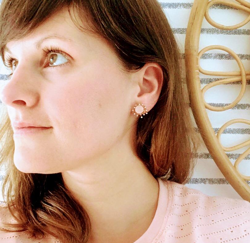 du vent dans mes valises - boucles d'oreilles fleurs pissenlit cuir made in France