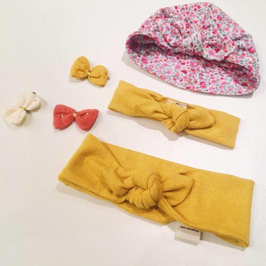 bonnet naissance turban filles, modèle personnalisén, made in France - du vent dans mes valises