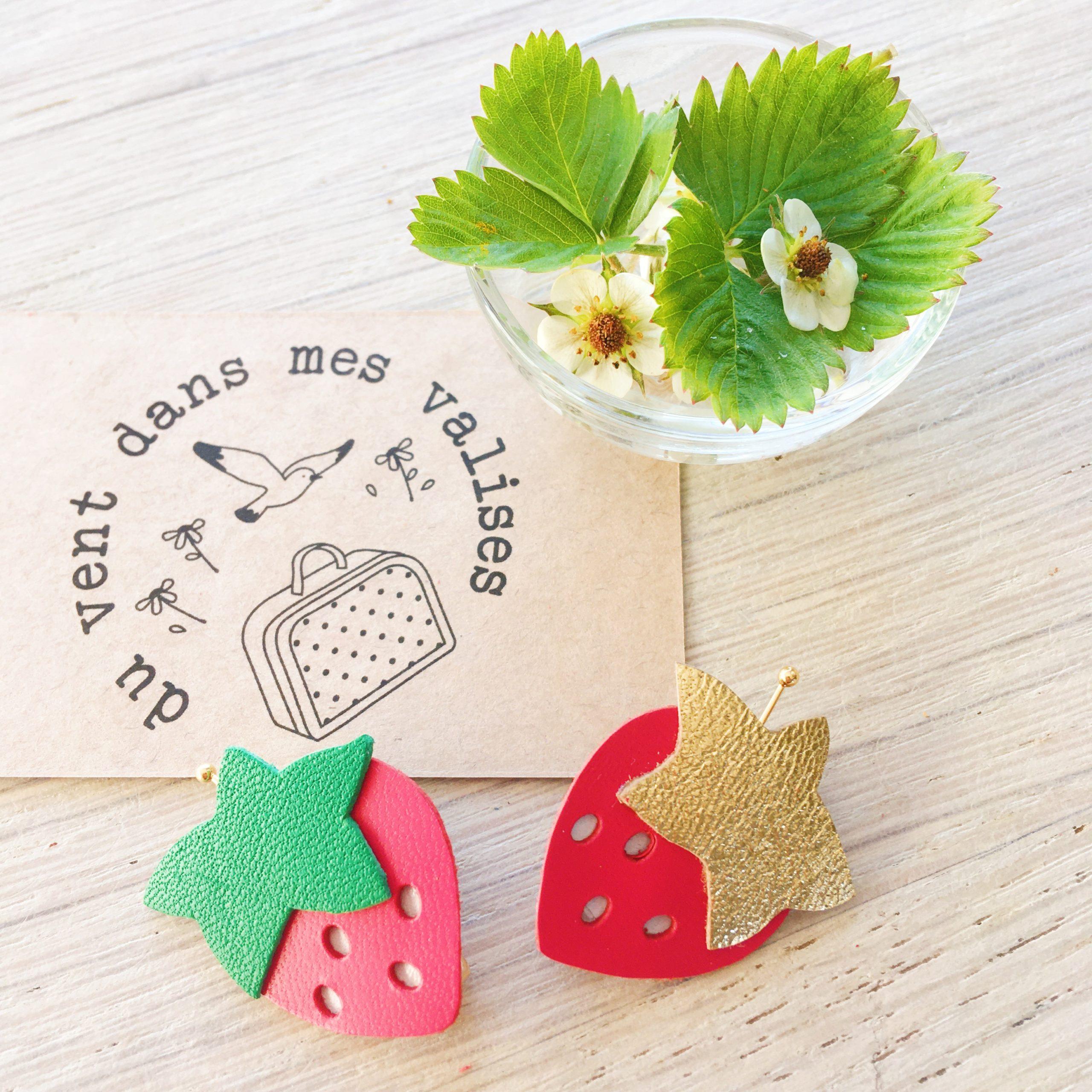 broches fraises à croquer made in france - du vent dans mes valises