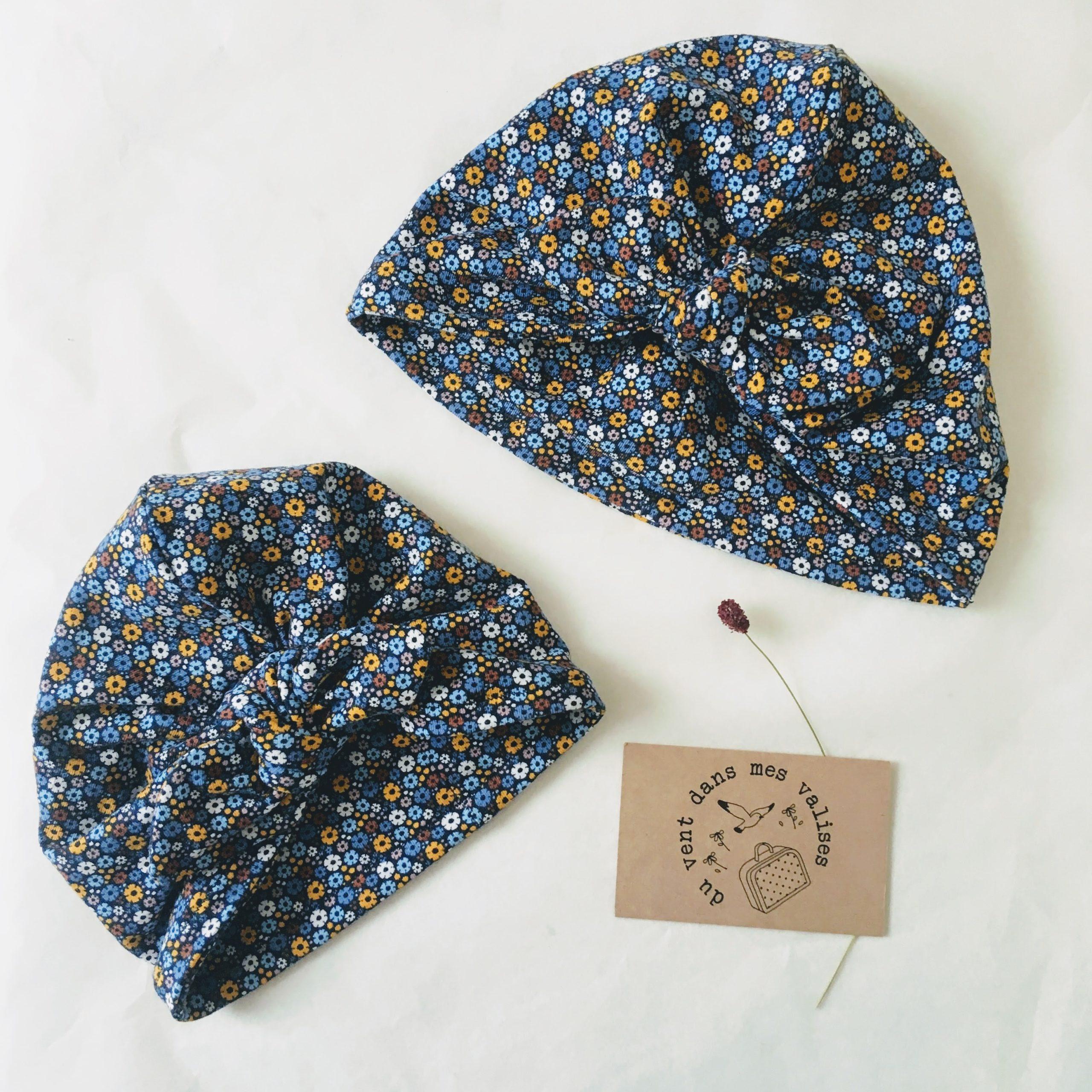 du vent dans mes valises - bonnet turban cadeau naissance bébé made in France