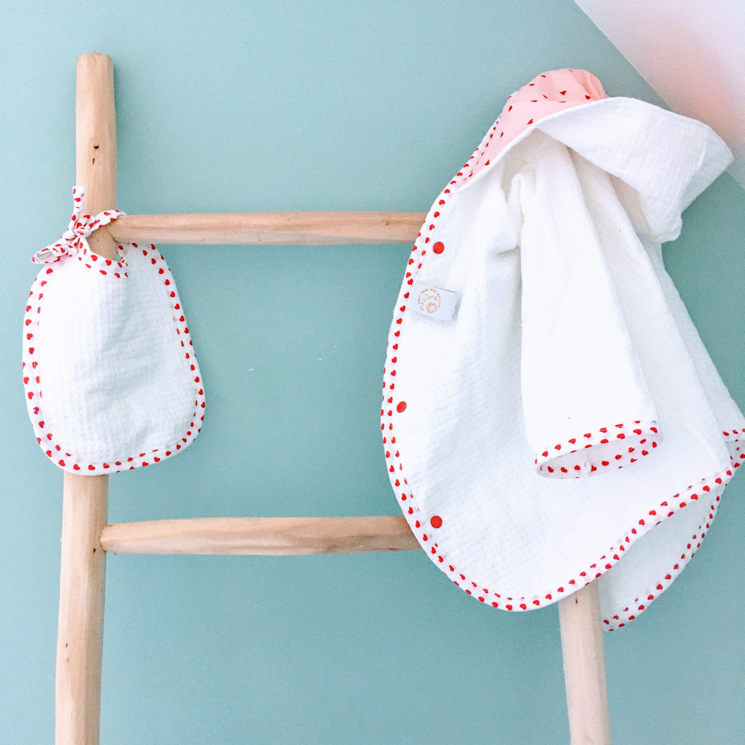du vent dans mes valises - peignoir bébé enfant personnalisable made in France