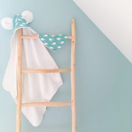 capes de bain bébés personnalisées made in France 100% coton avec capuchon et oreilles - du vent dans mes valises