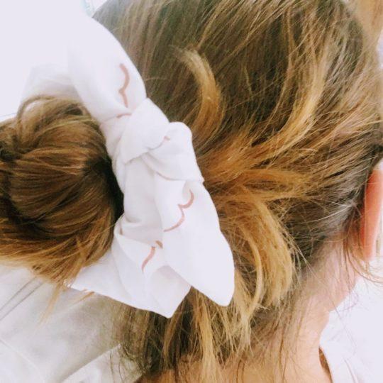 du vent dans mes valises - chouchou chou mouettes étoiles de mer blanc cuivré made in France