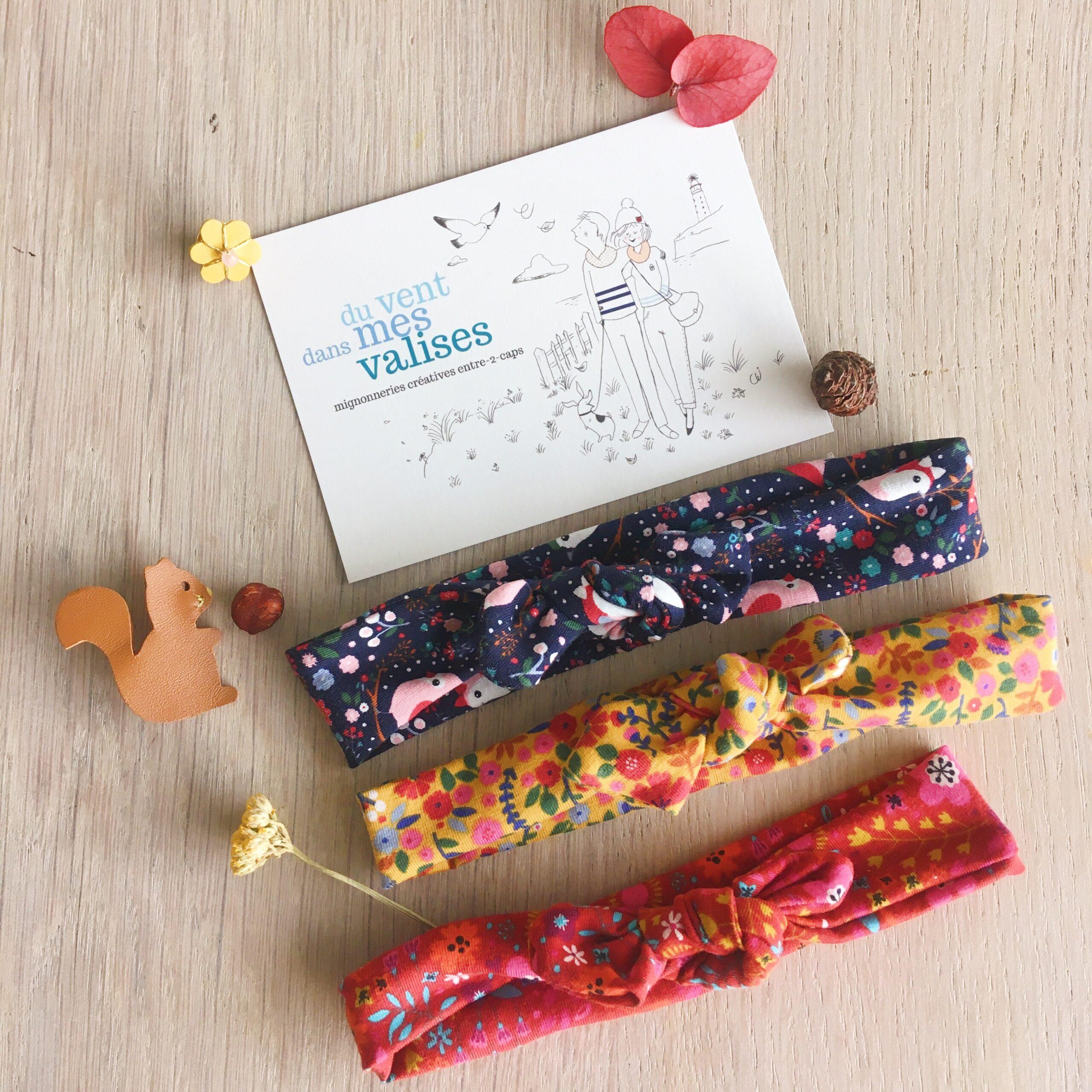 bandeau bébé extensible et réglable fleurs made in France confection artisanale en coton doux - du vent dans mes valises