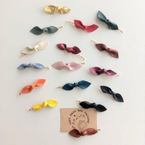 barrettes pinces plates guiches made in france en cuir couleurs feuilles - du vent dans mes valises