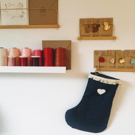 bottes de Noël en coton made in France - du vent dans mes valises