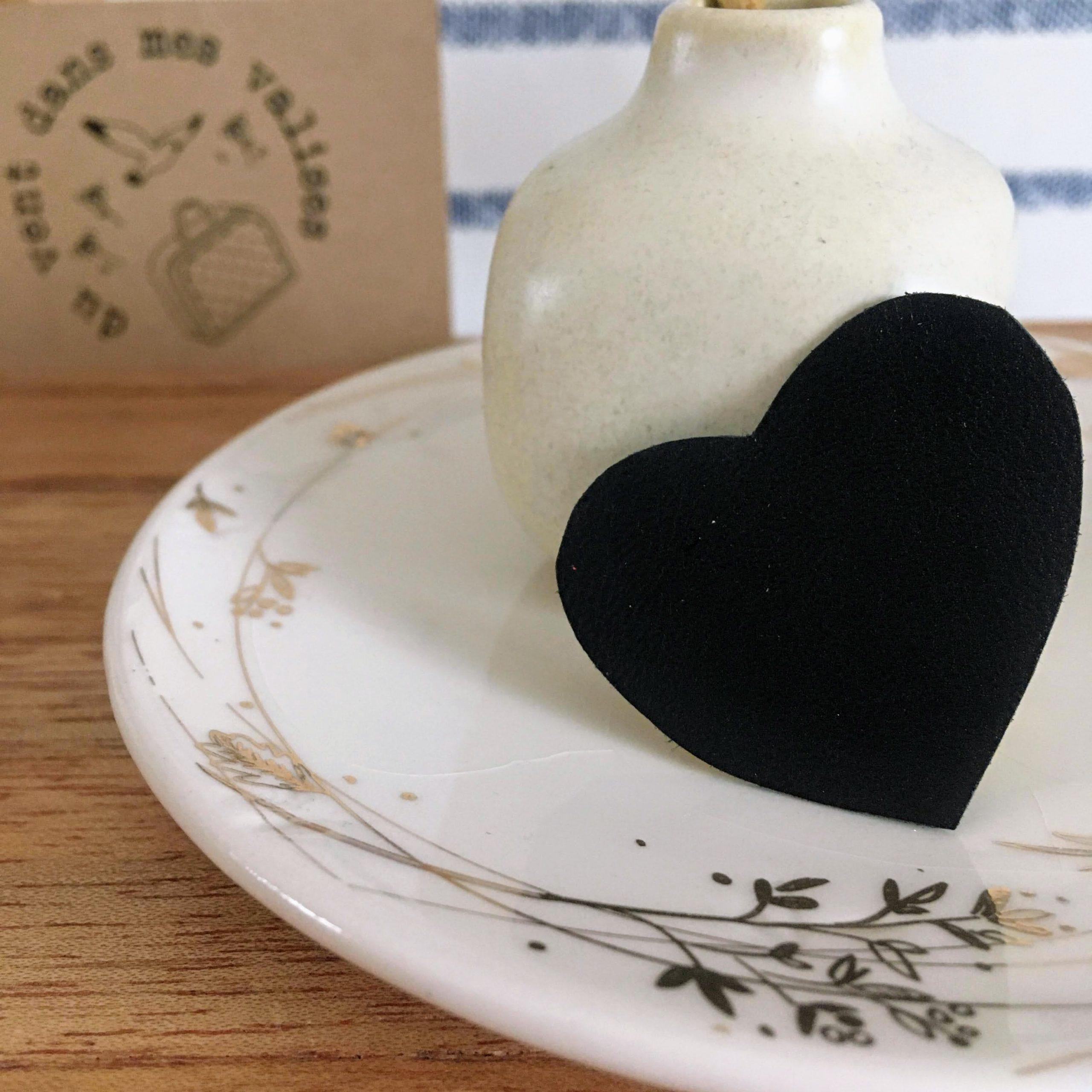 le joli coeur broche en cuir poétique made in France - du vent dans mes valises