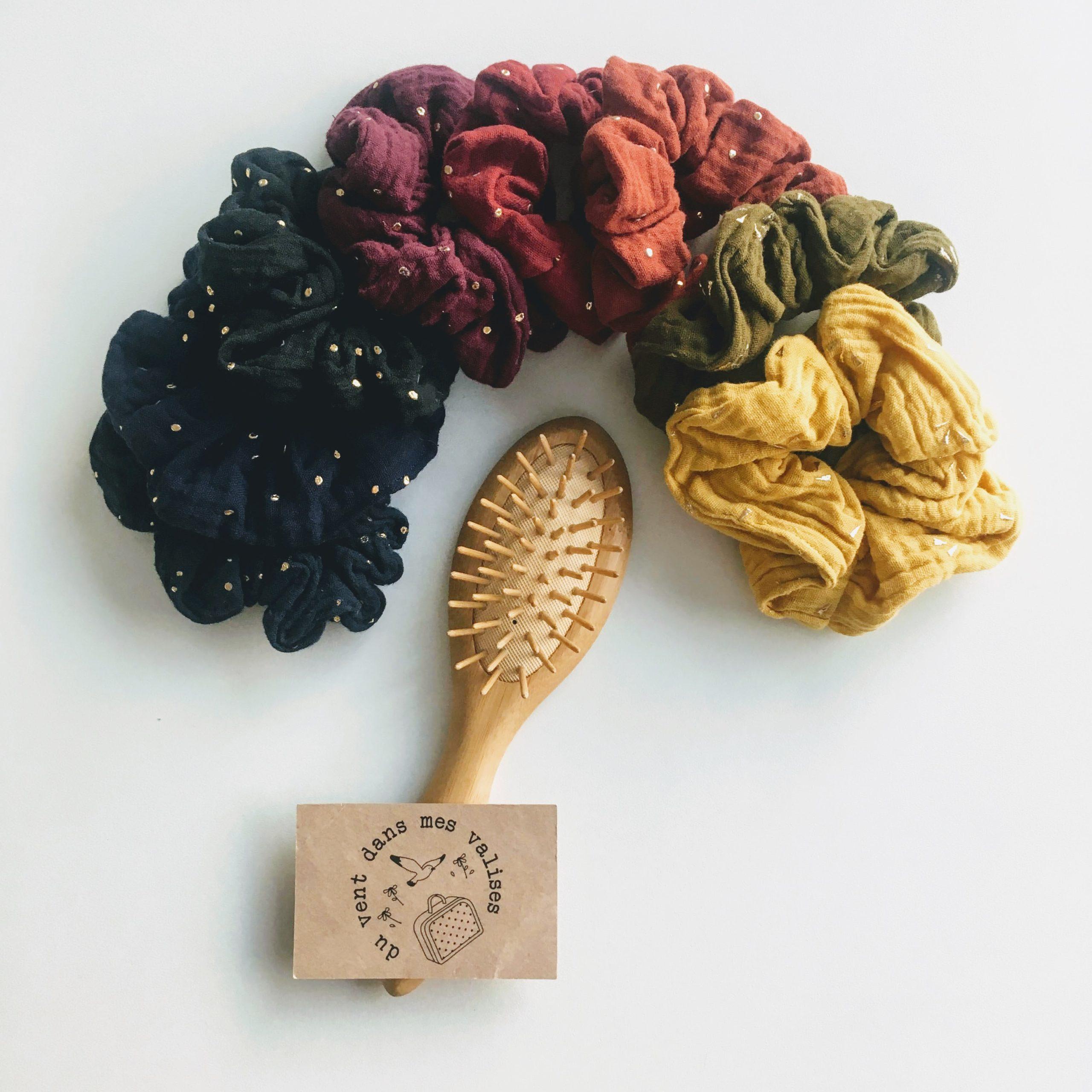 chouchou double gaze made in France coloris hiver - du vent dans mes valises