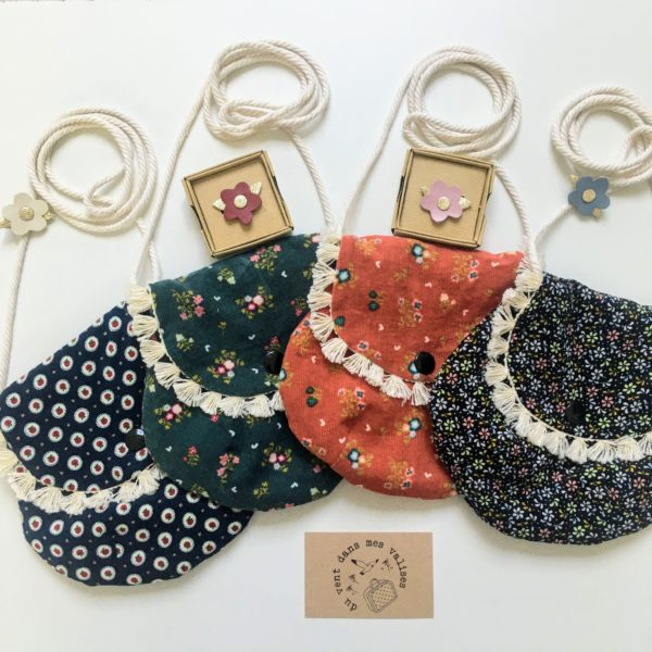 mini sacs à main en velours milleraies coton automne hiver folk made in France 100% coton - du vent dans mes valises