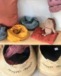 snood garçon homme hérissons en double gaze de coton made in France - du vent dans mes valises