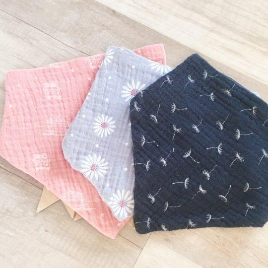 bandana bébé double gaze enfant made in France - du vent dans mes valises