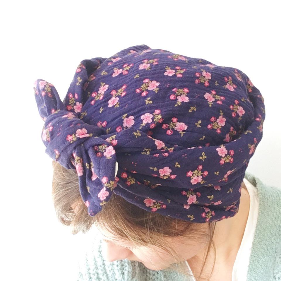 bandana femme made in france en double gaze de coton - du vent dans mes valises