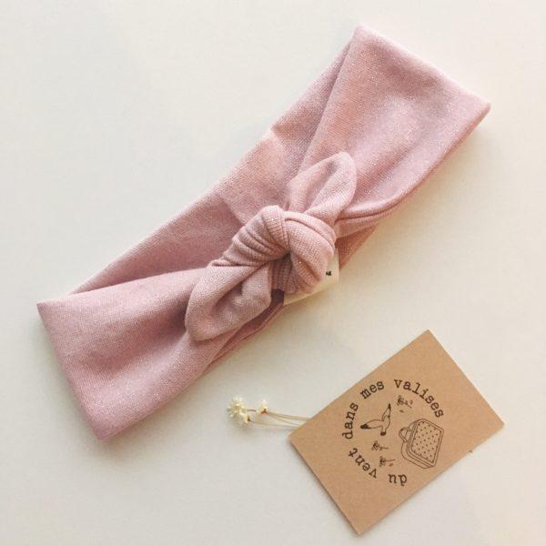 bandeaux femme rose made in france - du vent dans mes valises