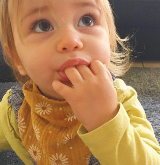 bavoir foulard bandana personnalisé double gaze bébé enfant made in France - du vent dans mes valises