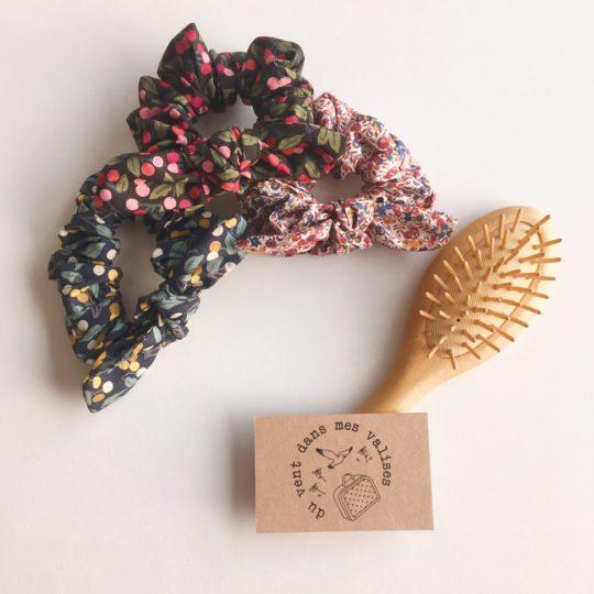 chouchou chou femme baies sauvages automne hiver 100 % coton noeud amovible- du vent dans mes valises