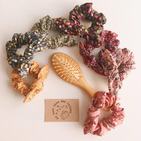 chouchous chous femme fille automne hiver 100% coton noeud amovible made in France - du vent dans mes valises
