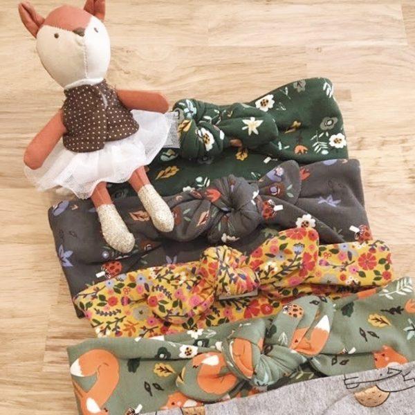 collection de bandeaux extensibles et adaptables made in France en jersey de coton doux automne hiver - du vent dans mes valises