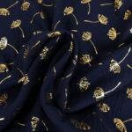 bleu marine pissenlits dores