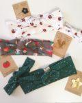 bandeaux extensibles adaptables made in France en jersey de coton édition limitée de Noël - du vent dans mes valises