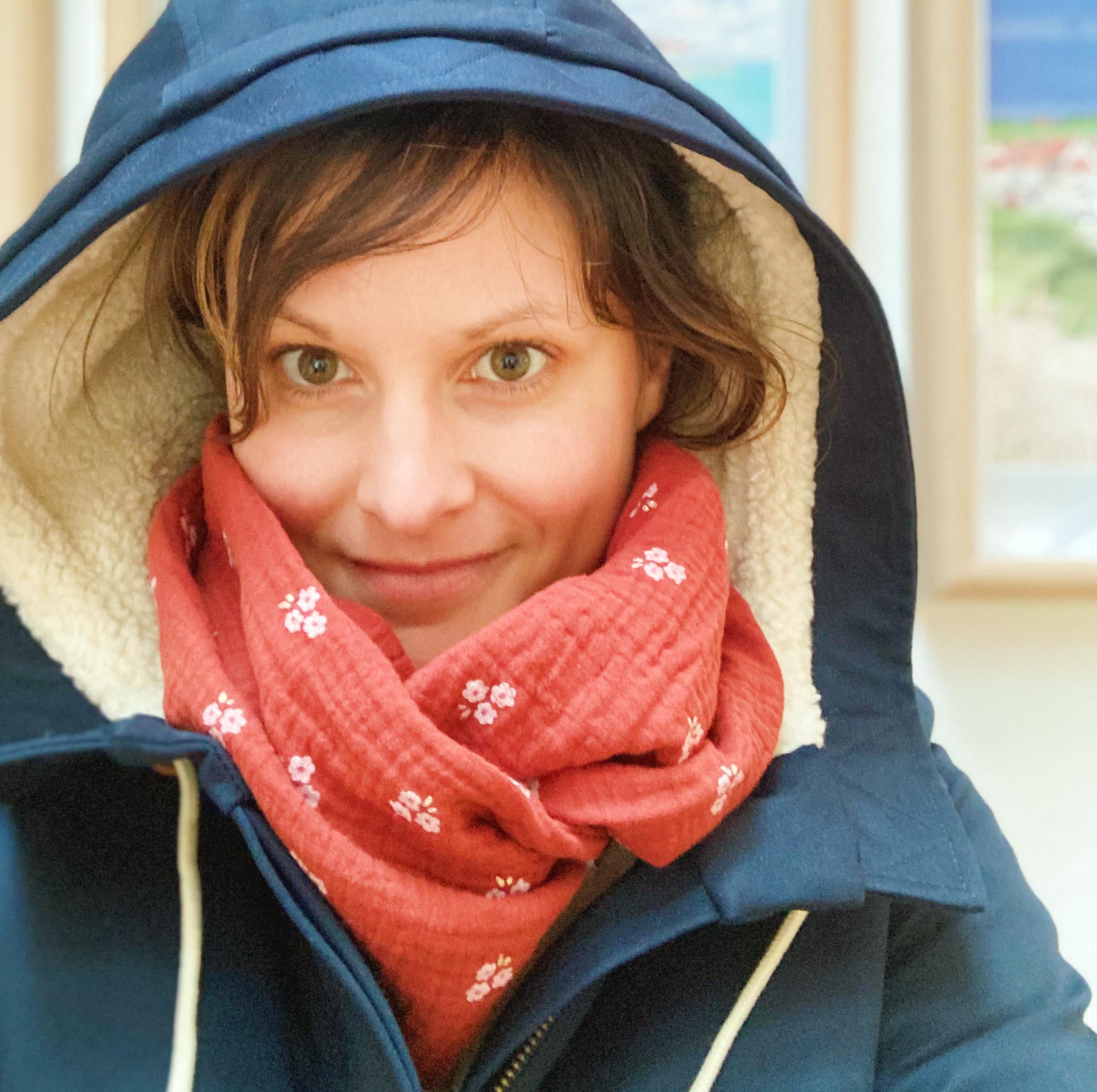 snood made in france ( écharpe tube ) femme double gaze de coton - du vent dans mes valises