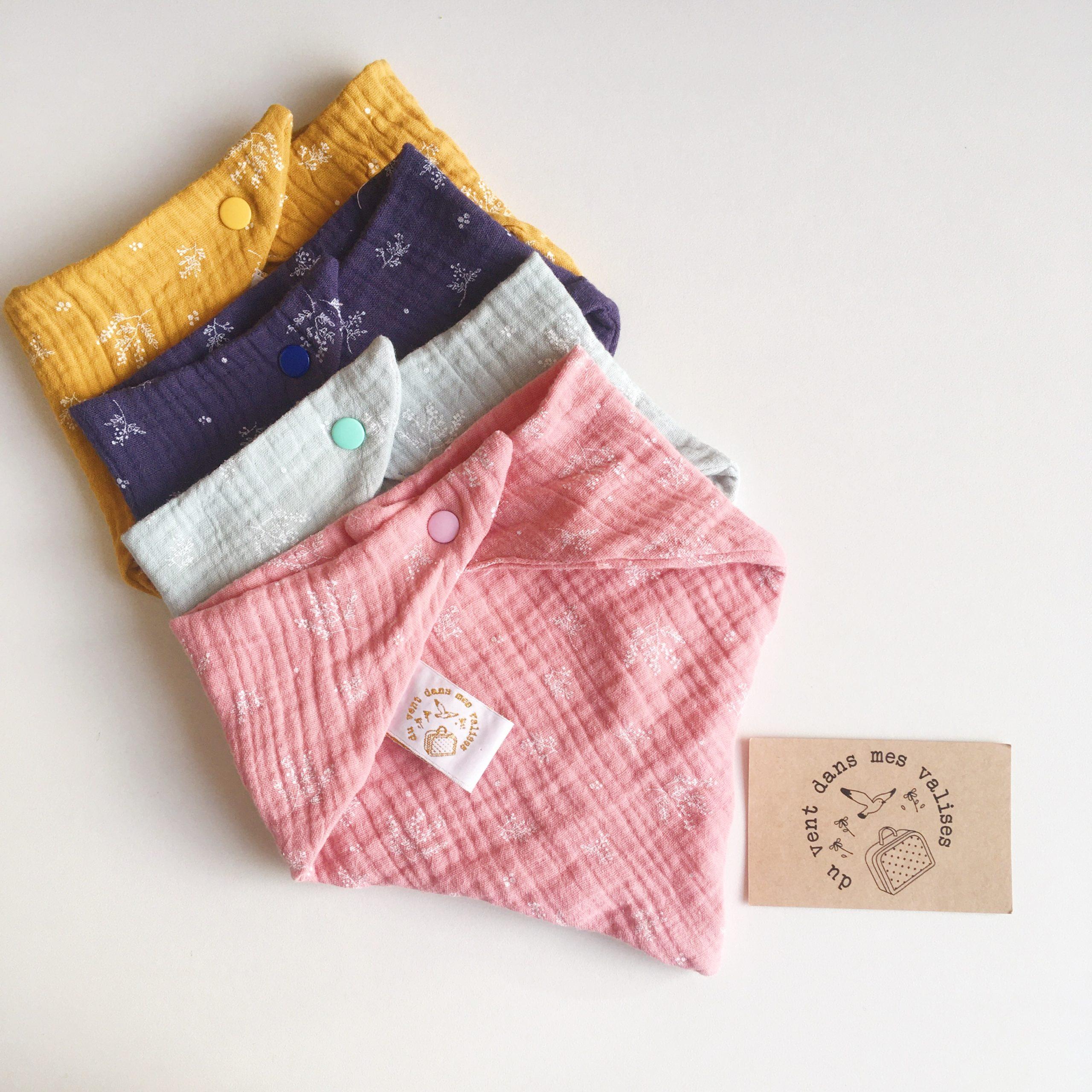 bavoirs foulards bébés made in France double gaze imprimé végétal graciles graminées - du vent dans mes valises
