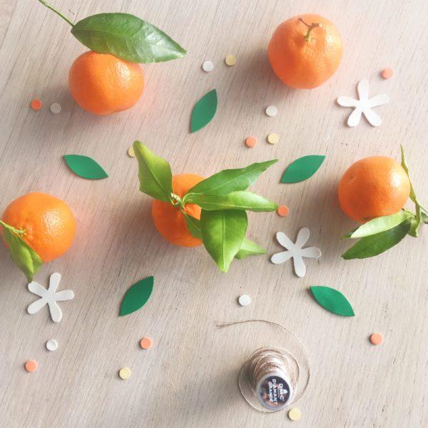 broche en cuir douceur de fleur d'oranger - du vent dans mes valises