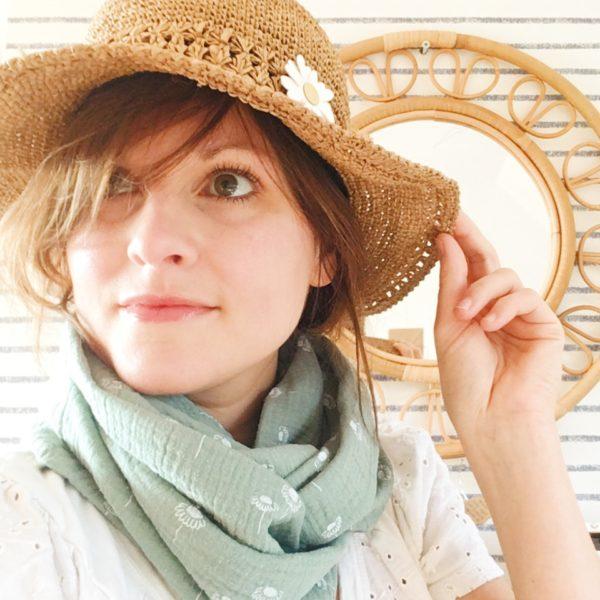 foulards femmes marguerites, snoods pâquerettes made in France - du vent dans mes valises12