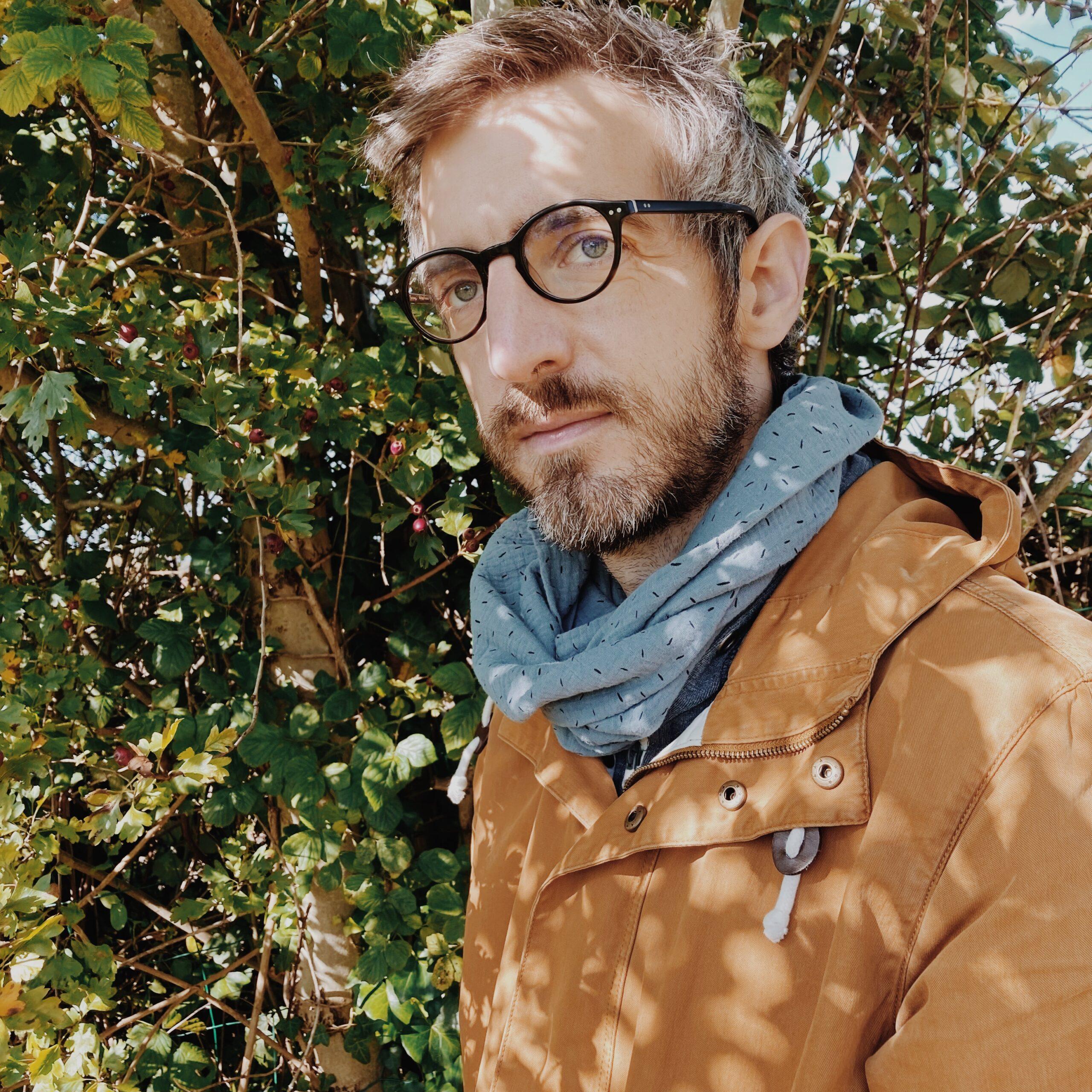 écharpe col homme snood double tour en double gaze de coton douce légère confortable et facile à porter made in France en coton - du vent dans mes valises