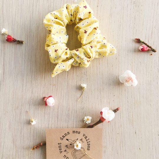 chouchou fleuri jaune mimosa fleurs de cerisiers - du vent dans mes valises