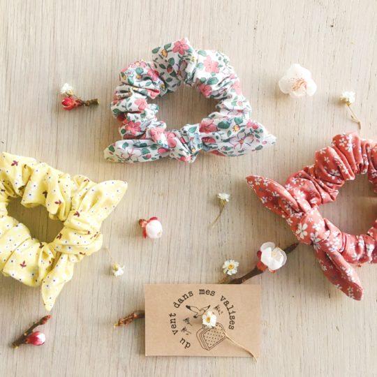 chouchous fleurs femmes fabrication artisanale française