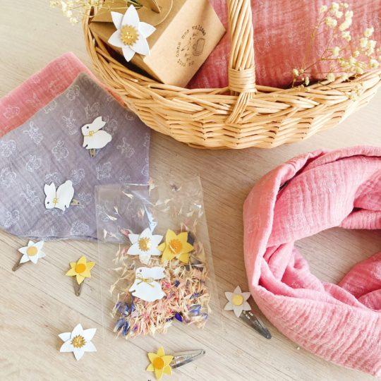 collection printemps et Pâques accessoires femmes et enfants made in France - du vent dans mes valises