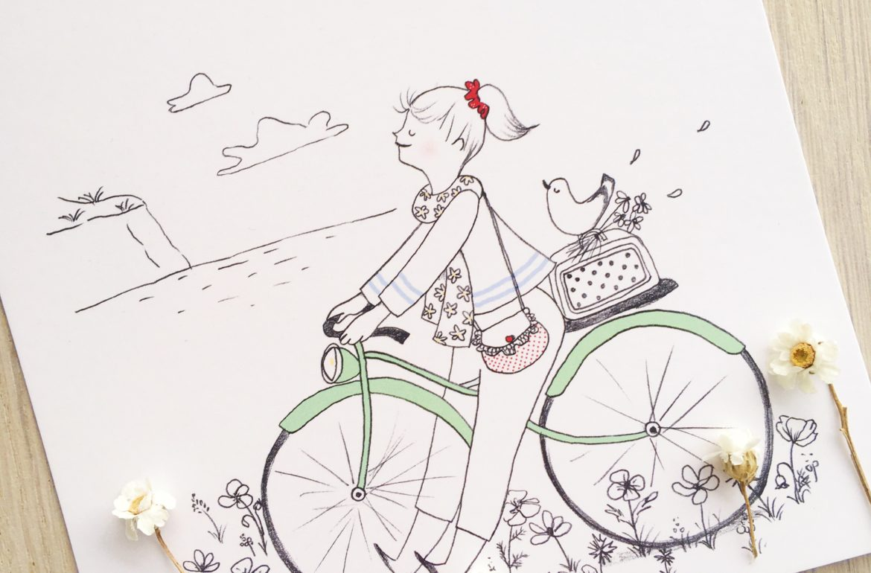 a bicyclette ©duventdansmesvalises x eulalie sous la lune