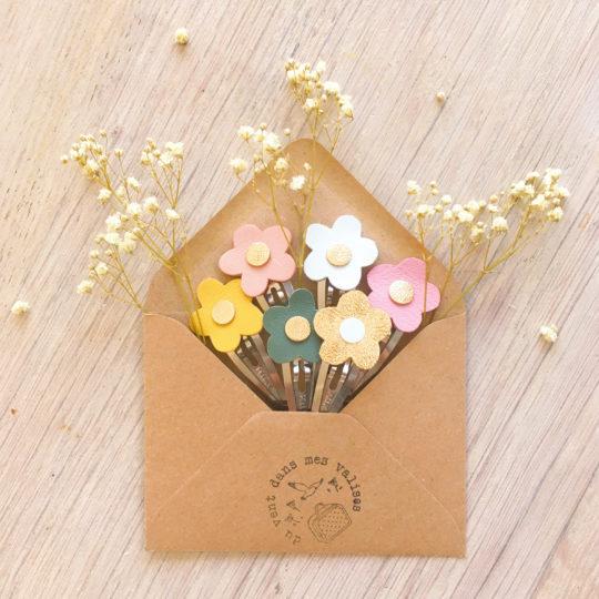 barrettes fleurs fabrication artisanale française - du vent dans mes valises