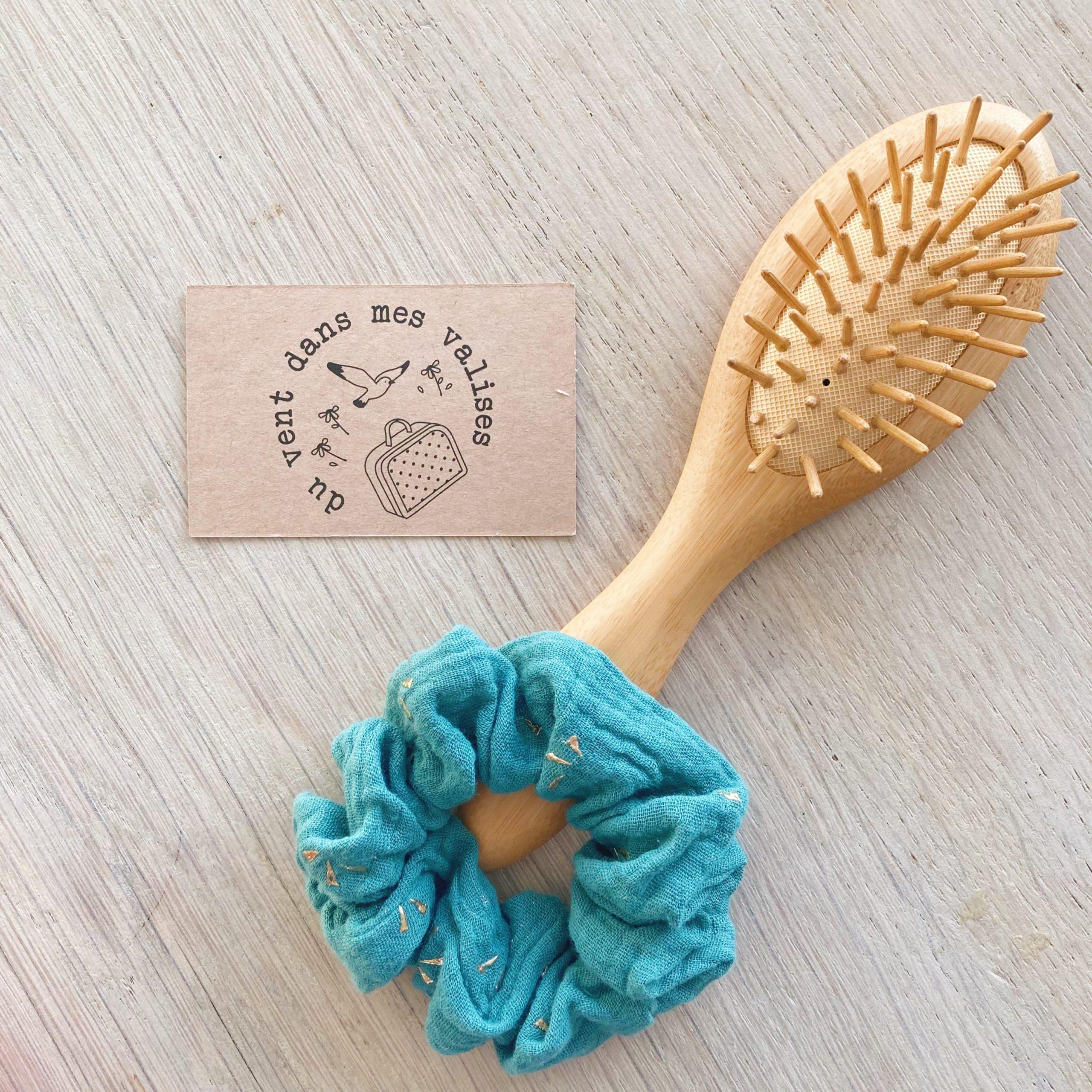 chouchou chic vert or fabrication artisanale française - du vent dans mes valises