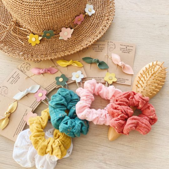 collection accessoires cheveux les ensoleillés made in france fabrication artisanale - du vent dans mes valises