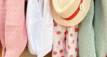 snoods si doux mignardises rose blanc vert - du vent dans mes valises
