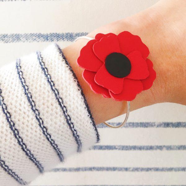 bijou créateur bracelet coquelicot - du vent dans mes valises